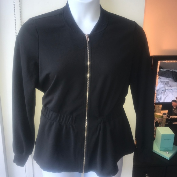 Fashion to Figure Tops - Peplum Lightweight Jacket